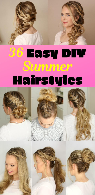 36 DIY Easy Summer Hairstyles