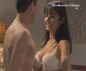 Vera Moura sensual em lingerie na novela Terra Brava