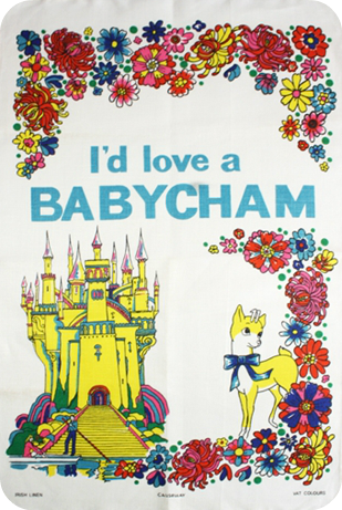 I'd love a Babycham tea towel