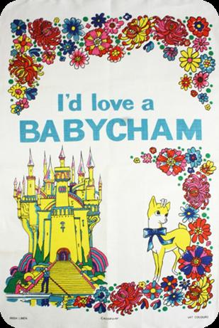 I'd love a Babycham tea towel