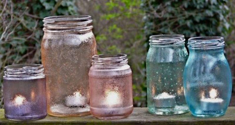 Original DIY Garden Candle Holders Of Vintage Jars | Shelterness