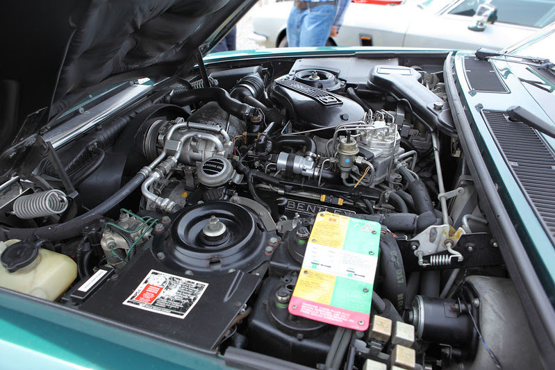 Bentley Turbo R Hooper Coupe, engine bay view, c1987
