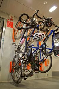multi-modal bike travel, bicycle touring in europe; bike on train