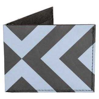 Light Blue and Black Chevrons Tyvek Wallet
