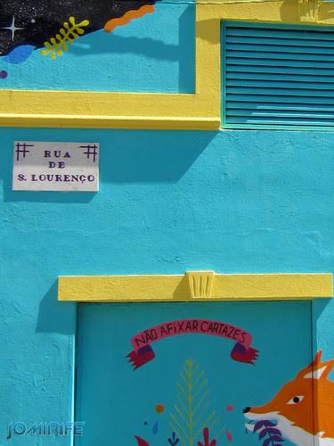 Arte Urbana by Kruella d'Enfer - Raposas, Fox portal na Figueira da Foz Portugal - Placa Rua de São Lourenço (8) [en] Urban art by Kruella d'Enfer - Foxes, Fox portal in Figueira da Foz, Portugal