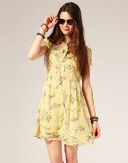 ASOS Spring Print Tea Dress