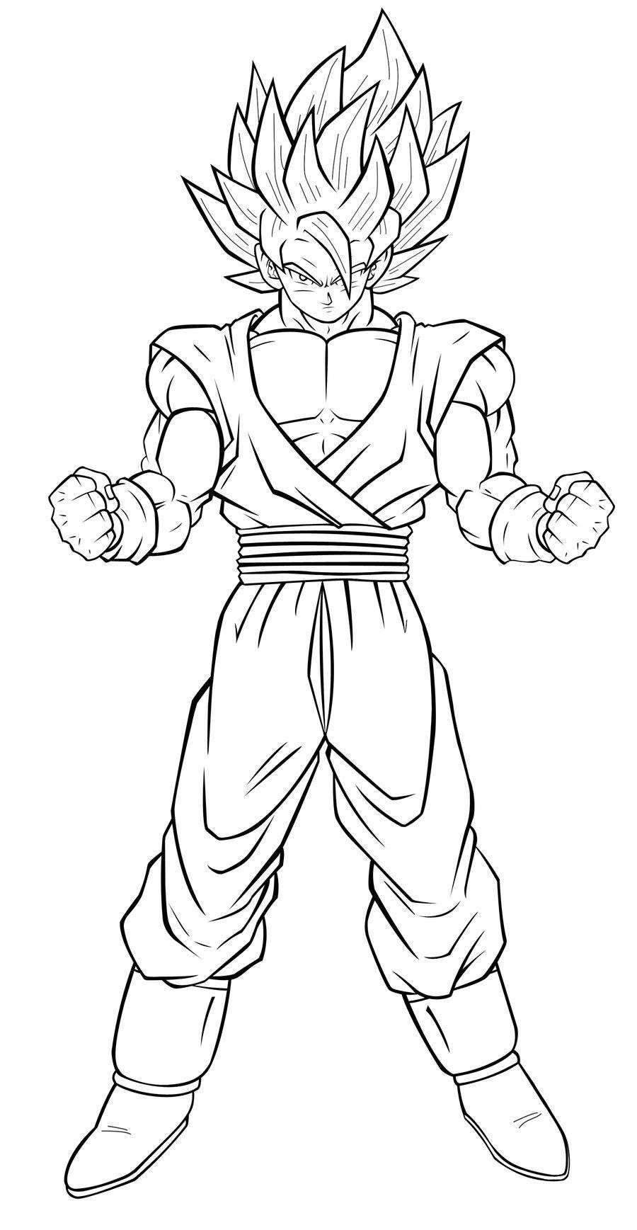 Goku Ssj Drawing At Getdrawingscom Free For Personal Use Goku Ssj