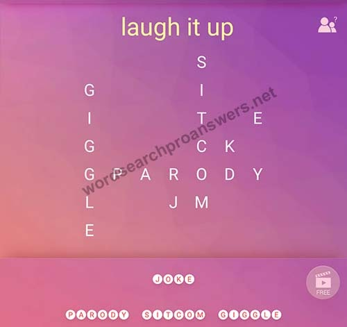 Laugh It Up Word Search App Answers Laugh Poster