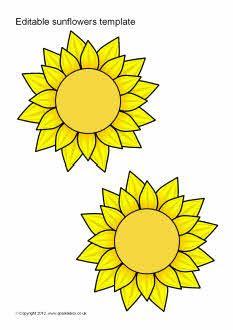 Editable sunflower templates (SB7065) - SparkleBox   Wedding Ideas ...