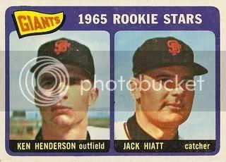 #497 Giants Rookie Stars: Ken Henderson and Jack Hiatt