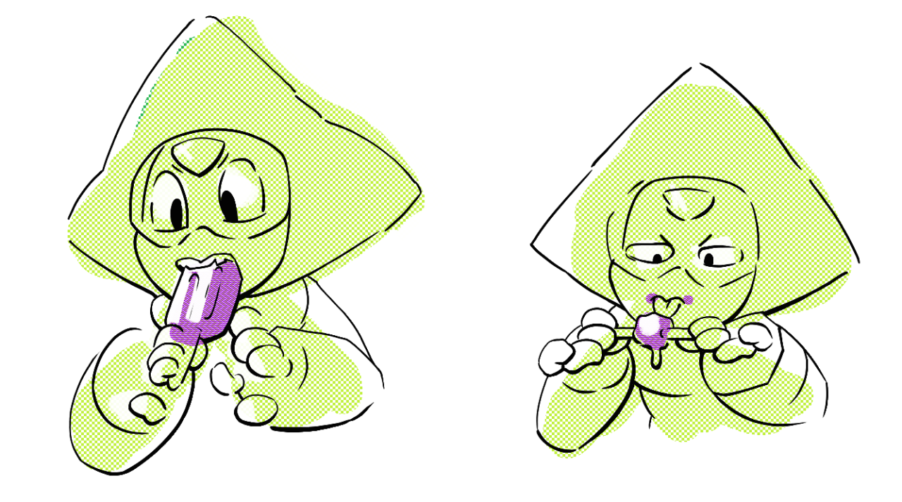 A lil Peri that @mechandra drew and I inked and colored! This was a very long time ago.