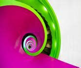 green  purple whirl