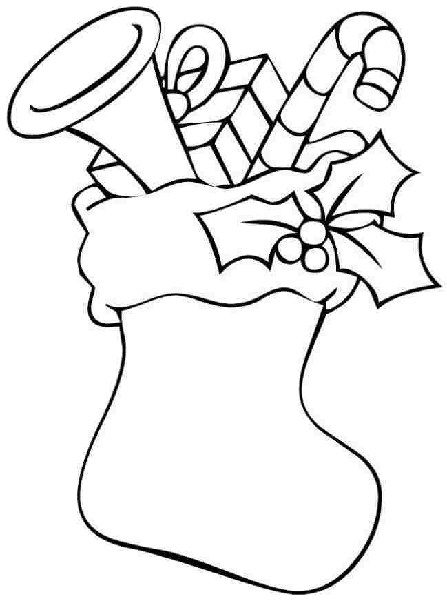 84 Coloring Book Pages Christmas Stockings Pictures