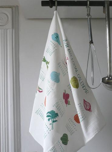 2011 Calendar Tea Towel hanging