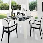 Black And White Dining Room Idea Sets