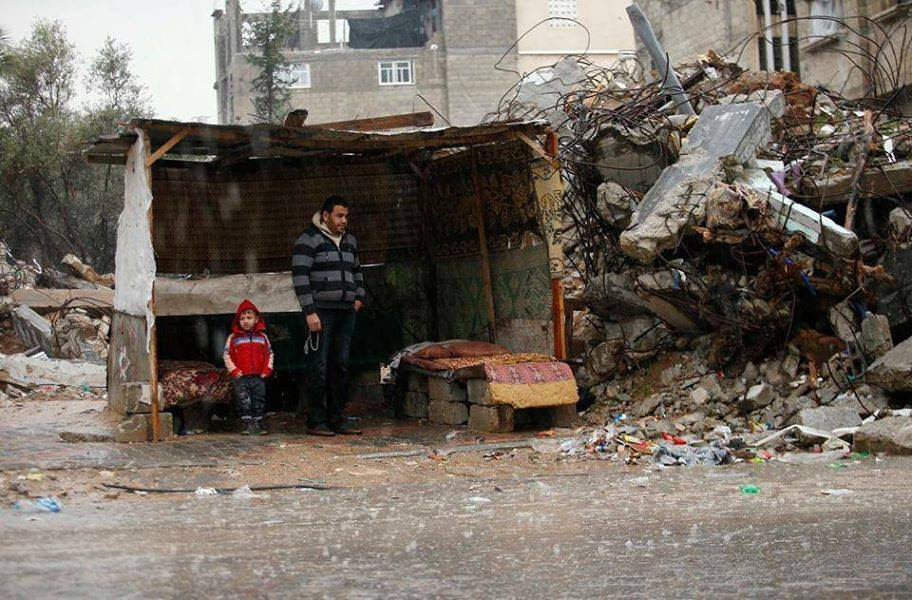 Gaza family living in bubble