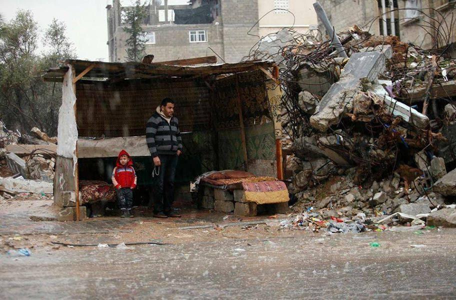 Gaza family living in bubble