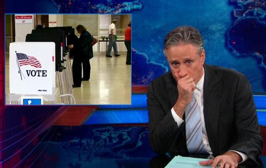 0.7: Jon Stewart discusses voter fraud.