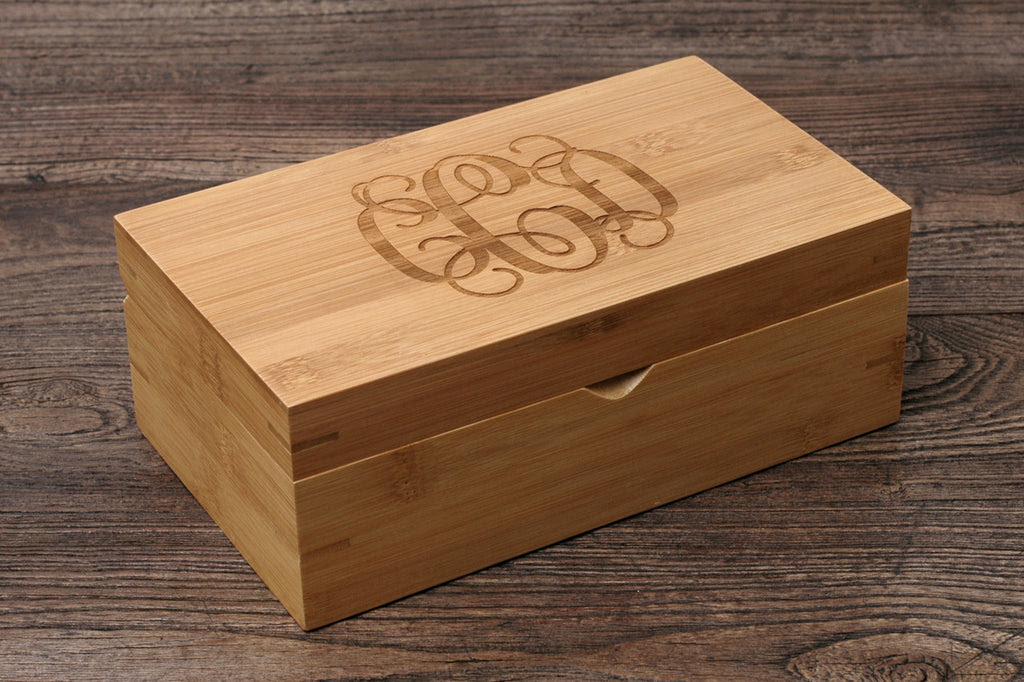 Personalized Essential Oil Storage Box Bamboo Custom Wood Case Rs