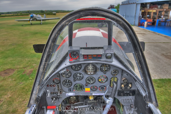 YAK52 cockpit in Little Grandson, UK