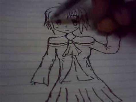 anime drawing simple school girl beginner youtube