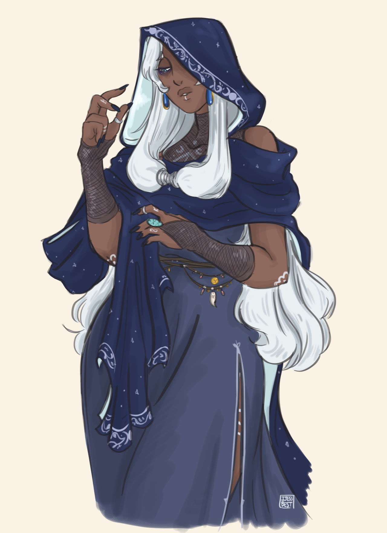 I give you coven leader Blue Diamond ! I hope you guys will like her, she was fun to draw