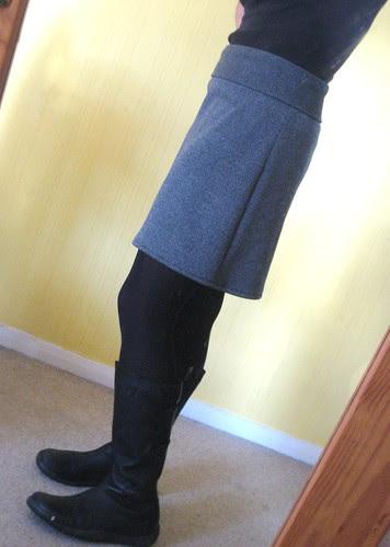 grey skirt shorter side