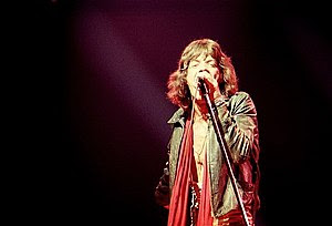 Mick Jagger of the Rolling Stones NYC show, ta...