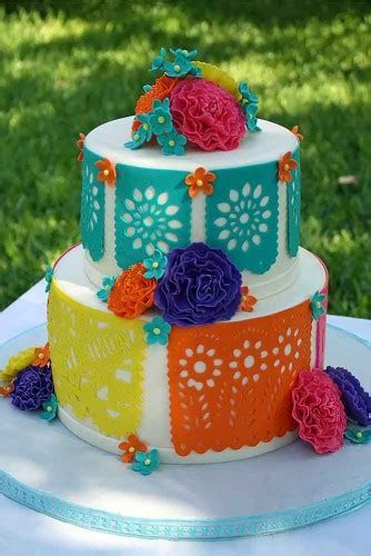 42 Exciting & Colourful Mexican Wedding Cake Ideas   Page