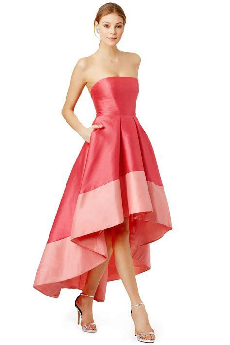 Hi low hem gown in bright and pale pink // Gladiolus Dress