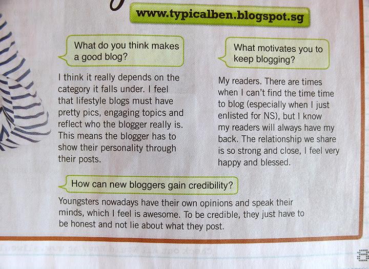 typicalben on teenage magazine interview questions