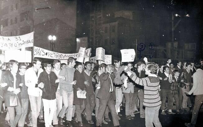 O movimento estudantil foi responsável por muitas ações de protesto . Foto: Arquivo Brasil Nunca Mais