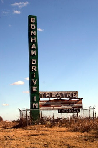 bonham drive-in neon sign