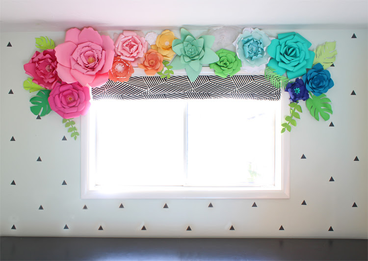 paper flower window valance