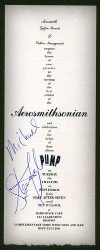Aerosmithsonian Pump Invitation 1989