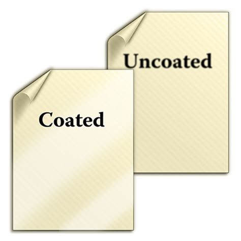 Difference between Coated and Uncoated Paper Used for