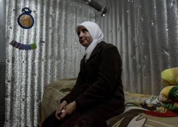 Iman Matoa, presa en su refugio