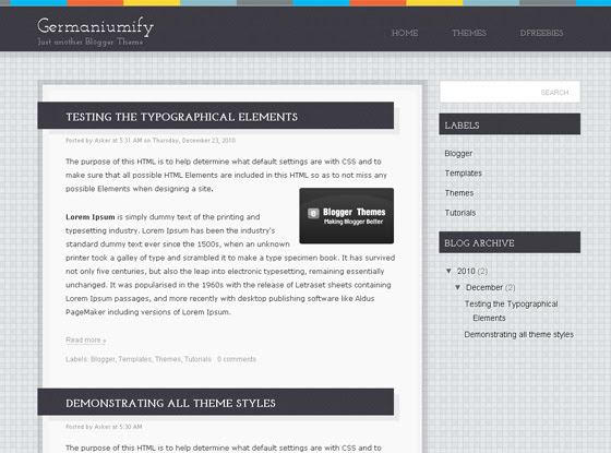Germaniumify Blogger Template