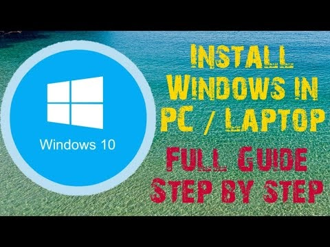 how to install windows 10 (Step by step)