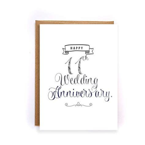 11th anniversary card, steel anniversary card for him