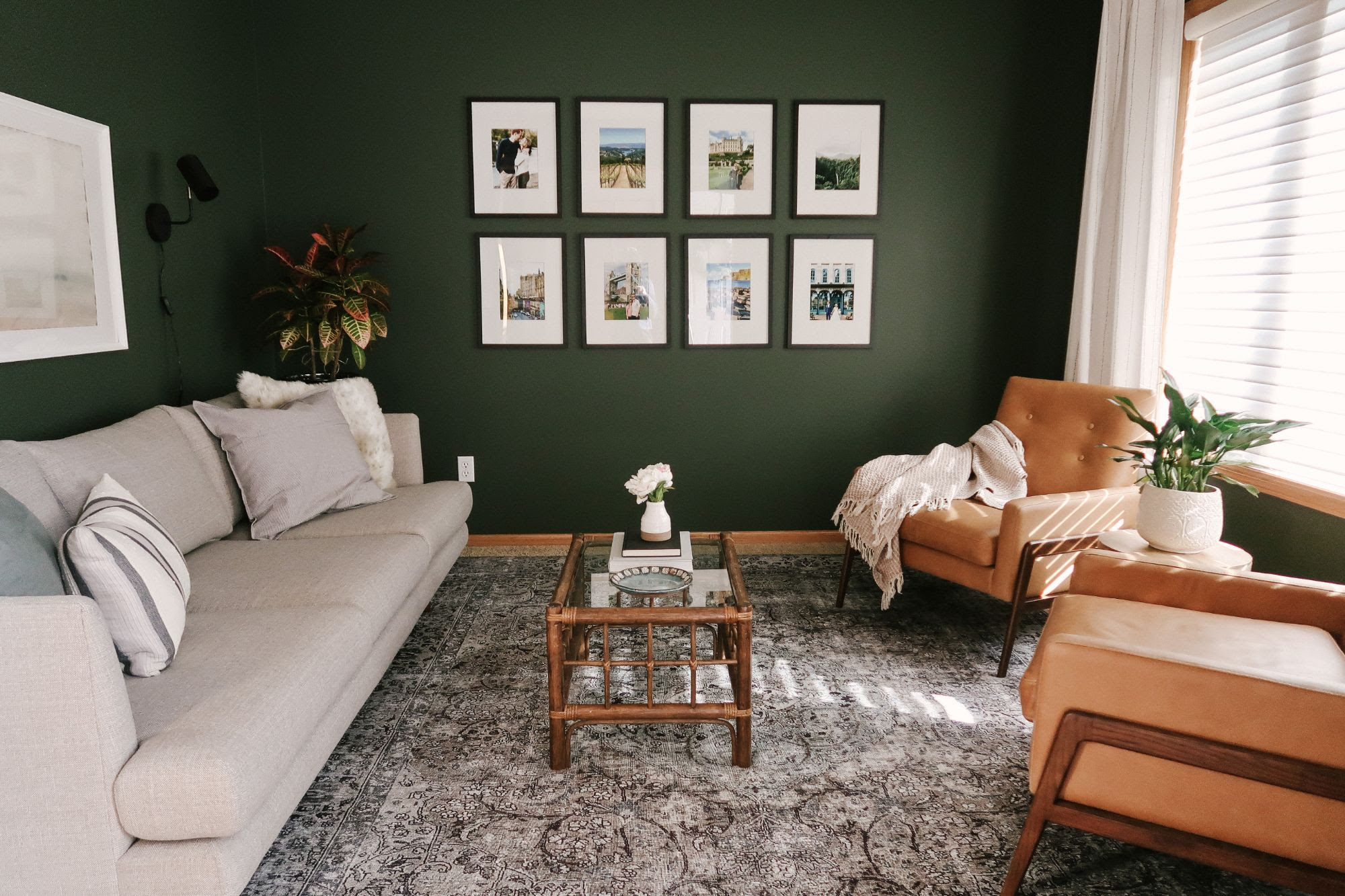 Tips for Decorating a Living Room with Dark, Bold Paint Color