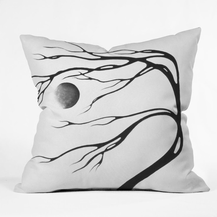 Madart Inc. Modern Dance Moon Song Throw Pillow