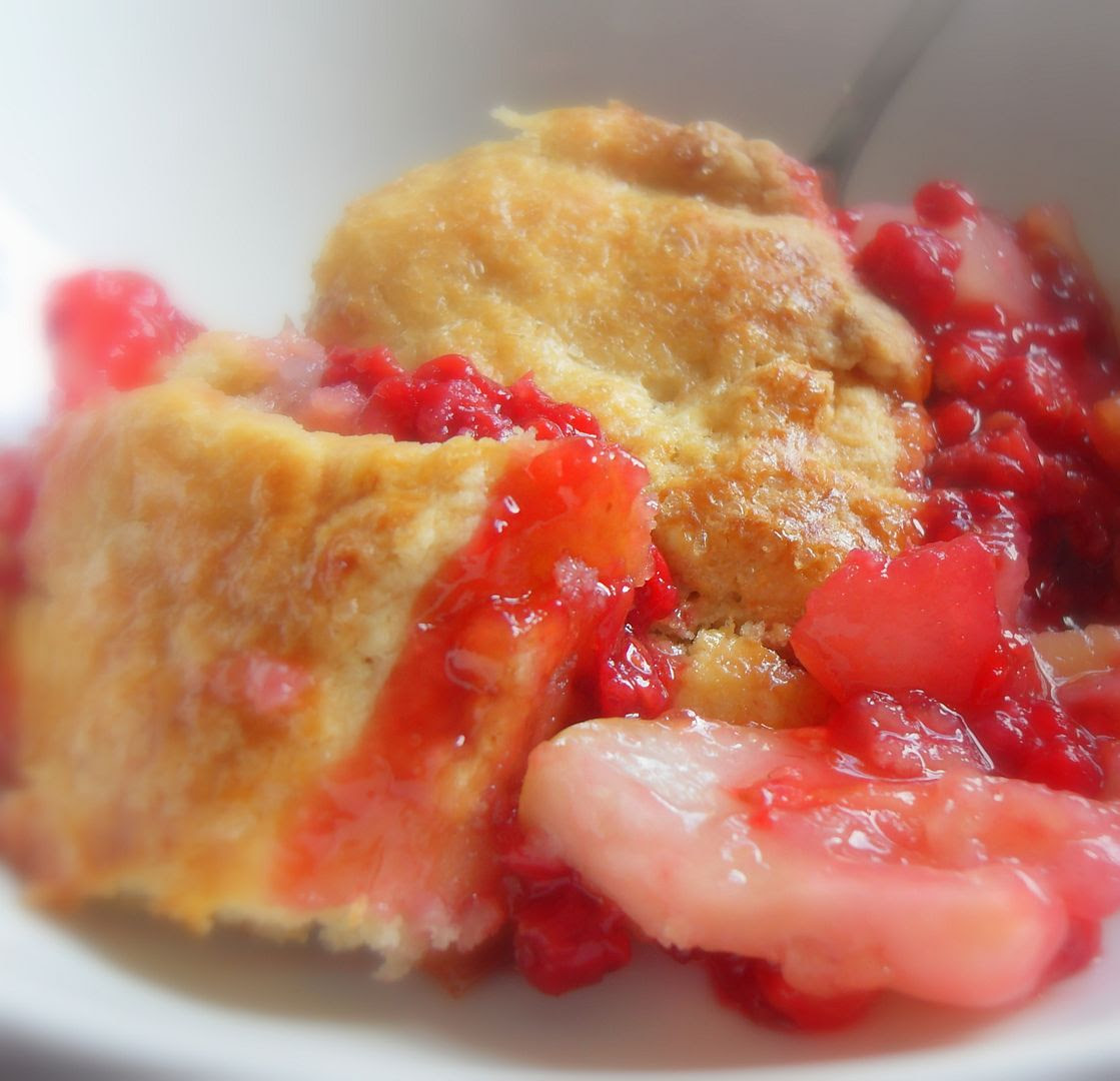 Gingered Pear and Raspberry Pandowdy