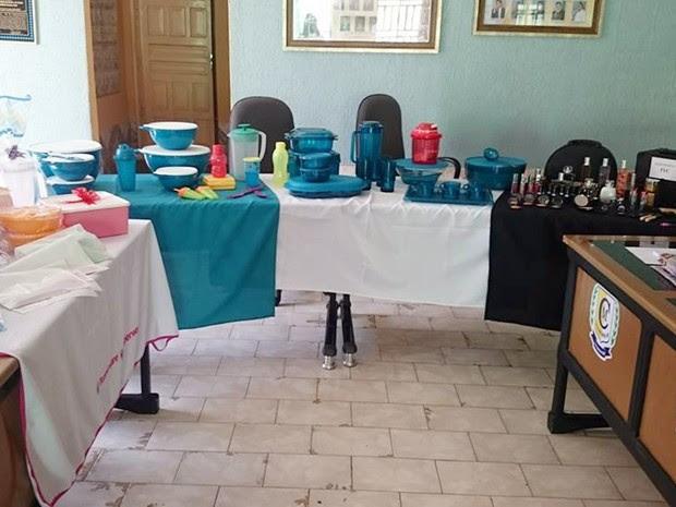 Câmara de Brejo dos Santos foi utilizada para evento de vendas de vasilhas plásticas (Foto: Dedé de Livaci/Arquivo Pessoal)