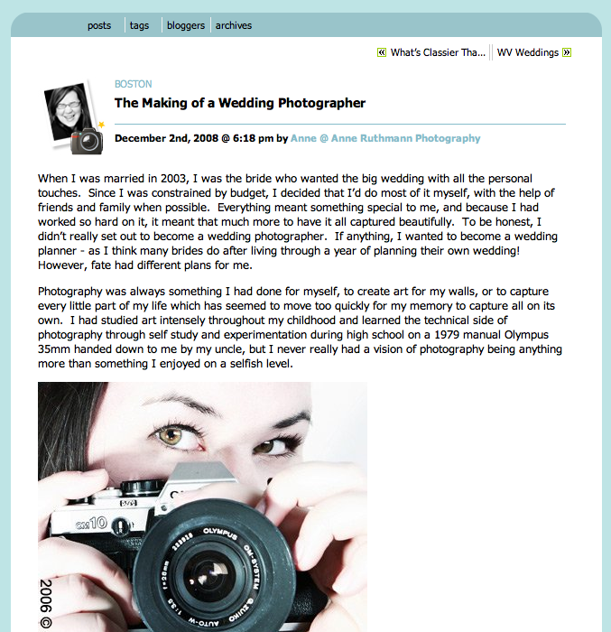 The Making of a Wedding Photographer
