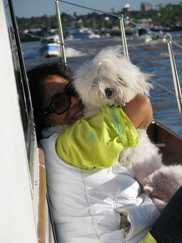 Estela and doggie