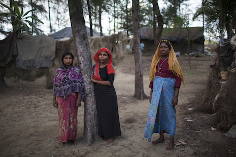 <p>Unregistered Rohingya refugees in theShamlapur informal settlement inCox's Bazar district in June of last year (Photo by Will Baxter)</p>