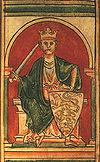 ภาพแกะสลักพระสาทิสลักษณ์ของของสมเด็จพระเจ้าริชาร์ด ใจสิงห์ สมัยคริสต์ศตวรรษที่ 12