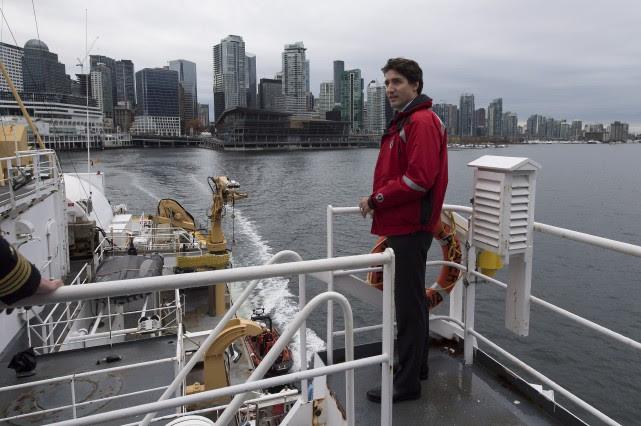 Justin Trudeau a fait une petite croisière à... (La Presse Canadienne, Darryl Dyck)