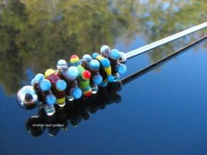 handmade swizzle stir stick lampwork bead